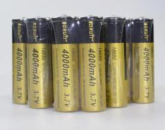 10本set★4000mAh 大容量保護回路付 18650 リチウムイオン充電池
