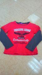 120�p赤長袖Tシャツ��1027