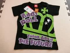 ♪新品 BABYDOLL メッセージTシャツ ブラック 100�p♪