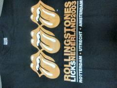 ローリングストーンズ2003ツアーTシャツ 新品三連オレンジベロ