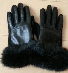 ファー☆ブラック☆手袋