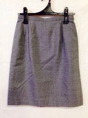 タイトスカート  グレー11号  事務服 仕事服 フォーク
