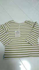 (90)新品タグ☆セラフのボーダー長袖Tシャツ