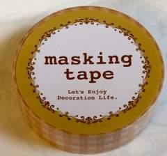 マスキングテープ イエロー系ギンガムチェック