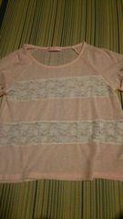 サイズ150ピンク系柔らかい半袖服