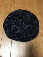 ca4la カシラ ツイードベレー帽 ブラック