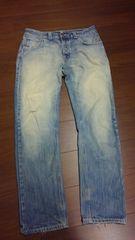 Nudie jeansヌーディージーンズ/ウォッシュ加工デニム/W32L32/ITALY製