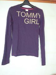 tommy girl 長袖 Tシャツ S(からM)トミーガール 紫 N2m