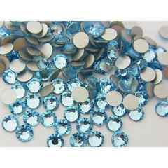 ネイルスワロ風高級ガラスストーン2.7�o100粒アクアマリン