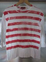 ★ TRICOT COMME des GARCONS  ペンキ調 ボーダー Tシャツ