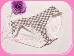 eco整理品/OLの可愛いパンティ(*^-^*)くた綿♪ピンク&チェック柄