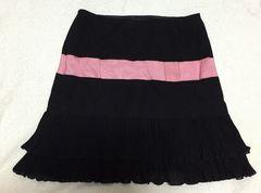 ディアマンテ☆黒×ピンクリボンスカート