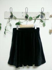 MAJESTIC LEGON☆黒ベロア フレア スカート♪