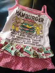 ハンバーガー&ラビット ピンクキャミ☆