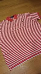 新品POLORALPH LAUREN ボーダーポロシャツ サイズXXL→3XL ピンク