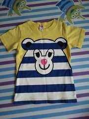 ANAPkids☆デカロゴ半袖Tシャツ☆ボーダーくまちゃん110