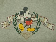 USA製90's¶VelvaSheen[ベルバシーン]★ミッキーマウス・スウェットトレーナーL相当