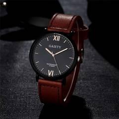 腕時計 ギリシャ文字 メンズ クォーツ腕時計 ウォッチ ブラウン