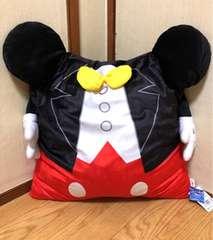 ■ROUND1限定!ミッキ-マウス*おてて付きDisneyスクエアクッション*47×52�p■