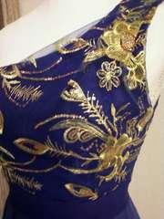 スペイン製 豪華 刺繍ドレス ストレッチ 新品 送無3980円