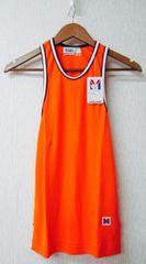 MIZUNOランニンタンクトップグ橙紺白クリックポスト164円配送