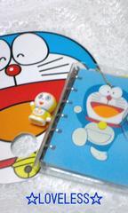 ドラえもん6穴システム手帳&うちわ(ドラミちゃん指人形付き)