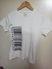 VERONICA バーコードTシャツ ホワイト Mサイズ