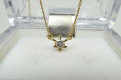 K18 一粒 0.10ct ダイヤモンド ペンダントネックレス