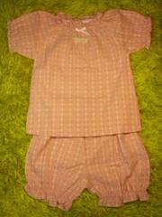 ●ハート刺繍半袖スモックパジャマ●95新品 ピンク