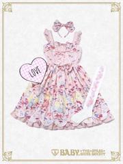 うさぎのキラキラ雫ランデヴー柄ジャンパースカート☆2017福袋