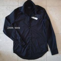 《新品》ZARA  MAN   slim fit shirt  薄手細身 メンズシャツ