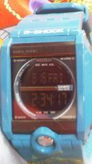 カシオG-SHOCK腕時計反転液晶デジタル使用感少美品ティファニーブルー