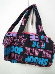 baby shoop◆シュープロゴロゴショルダーバッグ黒ピンク青◆美品