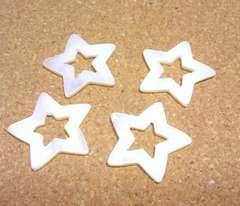 シェル星ビーズ大4個抜きタイプ