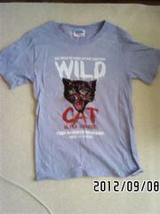 定形外込*ロゴ&リアル猫イラストプリントTシャツ