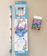新品☆Lilo&Stitch☆鉛筆2B*9本☆消しゴムセット