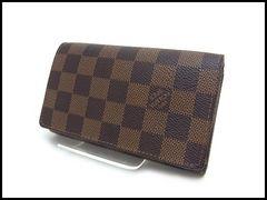 ルイヴィトン ダミエ トレゾール 二つ折財布 N61736