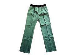 新品 scroll スクロール 美脚 カラー パンツ ストレッチ M 緑