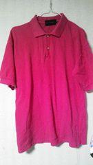 ピンク♪シンプル♪ポロシャツ♪Lsize☆♪
