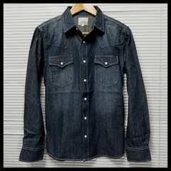 ヴィンテージ風デニムウエスタンシャツ/USED BLUE/M