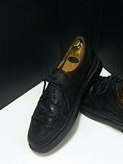 最値!イタリア製!バリーBALLY高級本革レザーシューズ 黒 靴 26cm