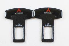 互換品 三菱ロゴ シートベルトキャンセラー 2個
