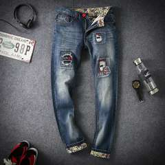 メンズ ダメージ加工 人気 デニムジーンズ 大きいサイズNZK0981