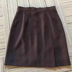 ブラウン.スカート.日本製.ウエスト60.美品