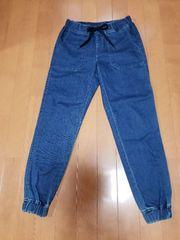 ◆UNIQLO◆デニム◆スエット型パンツ◆BL