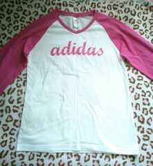 adidas*七分袖ロンT*pink*未使用