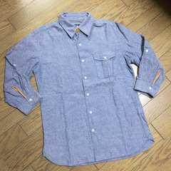 美品simplicite レザー使用シャンブレーシャツ ジャーナル