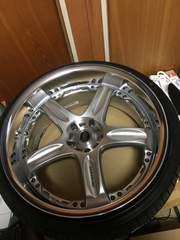 20インチレイズGT-C 9.5J off-7美品新品タイヤ付き2本ナット付き