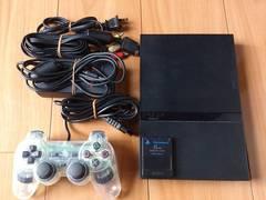 PS2本体一式/薄型70000+HORI製コントローラー
