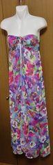 ЯЩ】パレオビーチドレス 花柄 サイズS 着丈117